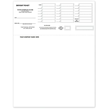 image regarding Free Printable Deposit Slips called CheckSimple Laser Deposit Slips - Deposit Tickets Suitable with QuickBooks Quicken (100 Qty) - Personalized