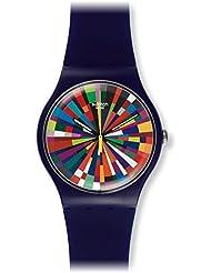 Swatch Men's Originals SUOV101 Purple Silicone Swiss Quartz Watch