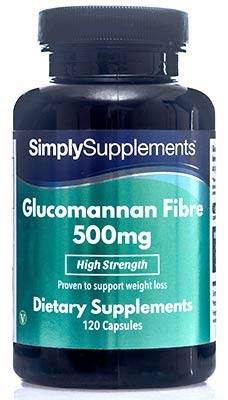 Glucomannan Capsules 500mg | Popular Appetite Suppressant Supplement for Weight Loss | 120 Capsules | Vegetarian Safe | Manufactured in The UK (Best Appetite Suppressant Uk)