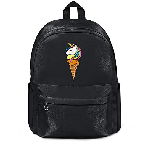 - Unicorn Ice And Cream Cute Bag Purse Casual Nylon Water Resistant School Backpack College Bookbag