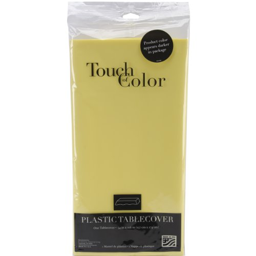 Creative Converting 01252 Touch of Color Plastic Table Cover, 54