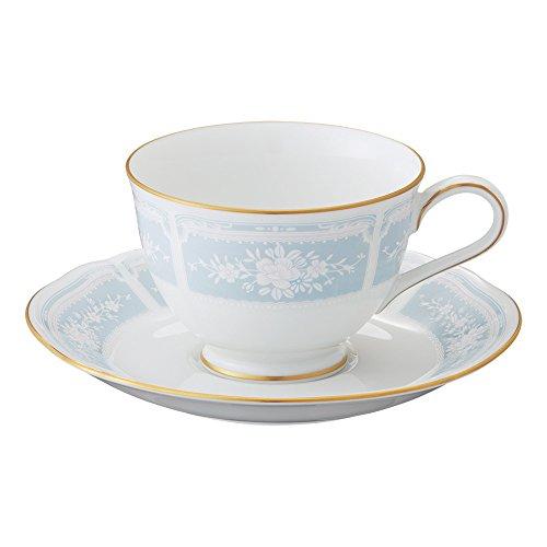 Noritake Fine Porcelain Lace Wood Gold Blue Tea coffee bowl dish Y9587A/1507 (japan import)
