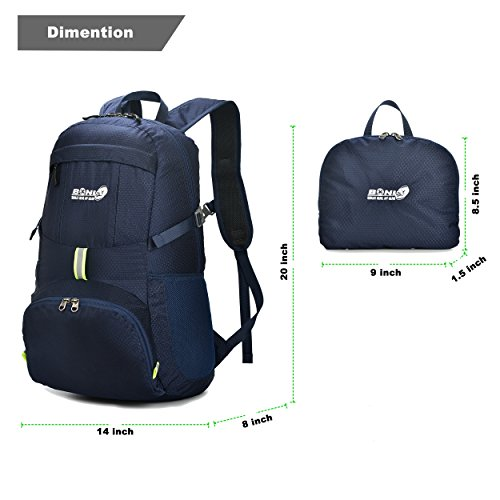 40L Lightweight Water Resistant Foldable Travel Hiking Backpack Bag Rucksack
