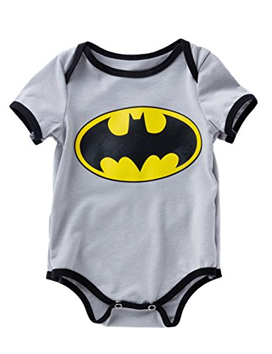 (D.B.PRINCE Newborn Baby Boys Girls Superman Short Sleeve Bodysuit Romper Outfits (0-3 Months,)