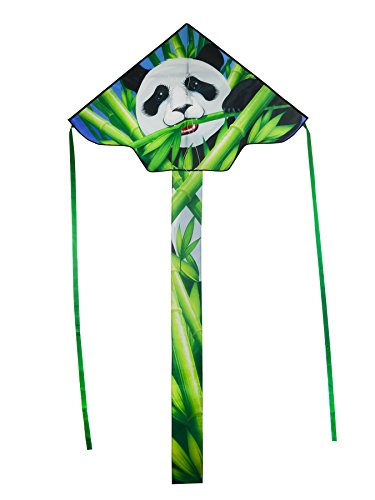 In the Breeze Panda 45 Inch Fly-Hi Kite - Panda Bear Theme Single Line Kite - Ripstop Fabric - Kite Line and Bag Included