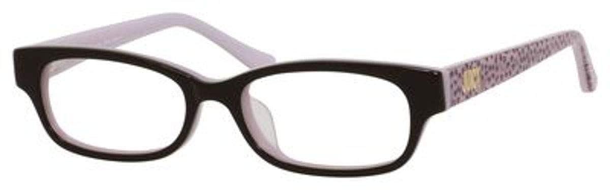 131e06e33c Amazon.com  Juicy Couture Plastic Rectangular Eyeglasses 48 0ERN Espresso  Pink  Clothing