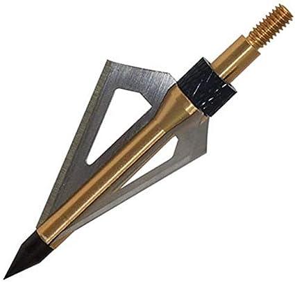 Sportsmann Puntas de Flechas Broadheads Arrow Heads Tips 100 grano 12pcs Tiro con arco Flecha Cabezas para ballesta y arco compuesto