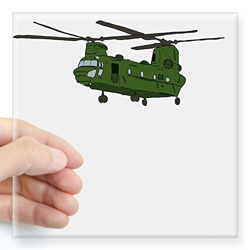 CafePress Chinook Helicopter Sticker Square Bumper Sticker Car Decal, 3