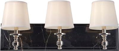 Feiss VS34003-PN 3-Bulb Vanity Strip Light Fixture, Polished Nickel Finish