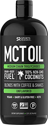 Premium MCT Oil derived only from Non-GMO Coconuts - 32oz BPA Free Bottle | Great in Keto Coffee,Tea, Smoothies & Salad Dressings | Non-GMO Project Verified & Vegan Certified (Unflavored) (Best Way To Add Coconut Oil To Diet)