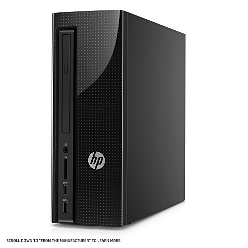 HP Slimline Desktop Computer, AMD E2-9000, 4GB RAM, 1TB hard drive, Windows 10 (270-a011, Black) by HP (Image #3)