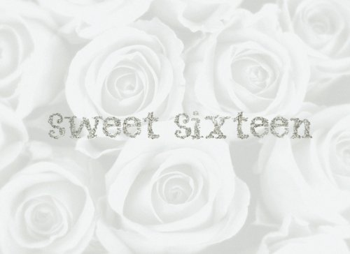 "Sweet Sixteen: White Rose Bling | Guest Book | Message Book | Keepsake |Sweet 16 Birthday Celebration | 60 formatted pages for three messages per page, 8.25"" x 6"", soft back cover"