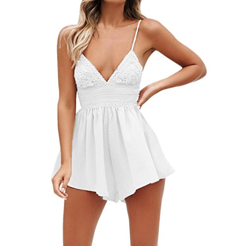 Women Jumpsuit, Limsea Summer Bowknot Backless Mini Evening Party Beach Jumpsuit