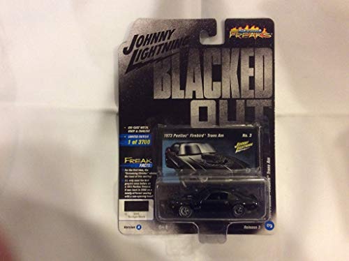 Johnny Lightning Limited Edition - 1973 Pontiac Firebird Trans Am Gloss Black with Silver Bird on Hood Blacked Out Limited Edition to 3,700 Pieces Worldwide 1/64 Diecast Model Car by Johnny Lightning JLSF009/ JLCP7120