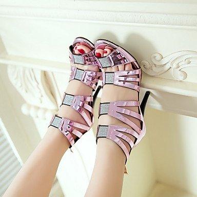LvYuan sandalias de los zapatos del club primavera verano otoño gladiadores partido materiales de la correa del tobillo White