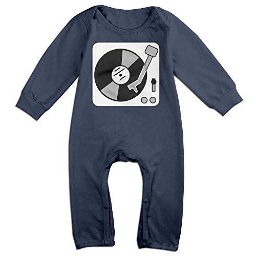 Turntable Music Vinyl Record Dj Baby Romper Jumpsuit Romper Clothing Navy 6 (Vinyl Jumpsuit)