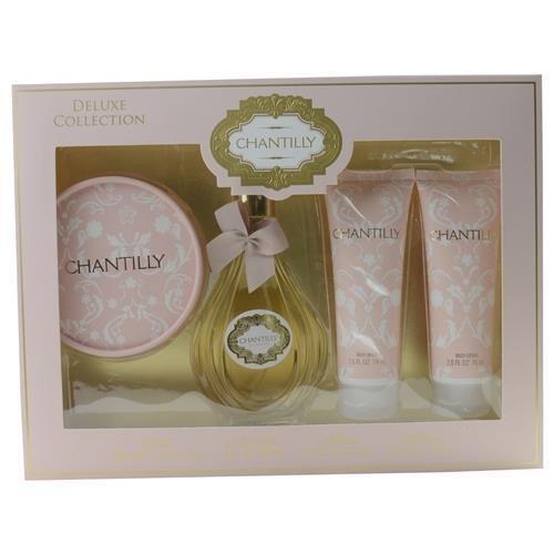 Ounce 1.75 Dusting Powder (DANA Chantilly 4 Piece Fragrance Set for Women, 3 Fluid Ounce)