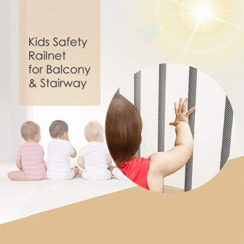 Rain Queen Kids Safety Net, Balcony and Stairway Safety Net for Baby Child Kids Indoor & Outdoor- Child Safety; Pet Safety; Toy Safety by RAIN QUEEN (Image #2)