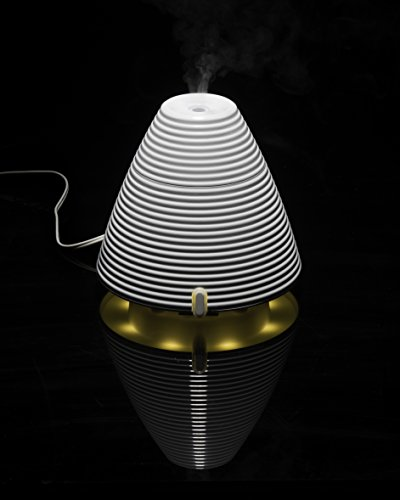 QUOOZ Ripple Ultrasonic Aromatherapy Essential Oil Diffuser, Classic, Quiet Diffuser with Auto Shut- Off - Diffuser Cast