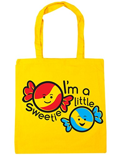 HippoWarehouse I 'm a little Sweetie Tote Compras Bolsa de playa 42cm x38cm, 10litros amarillo