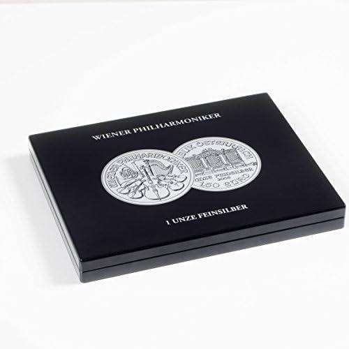 Estuche para 20 monedas de plata Filarmónica de Viena en cápsulas, negro: Amazon.es: Juguetes y juegos
