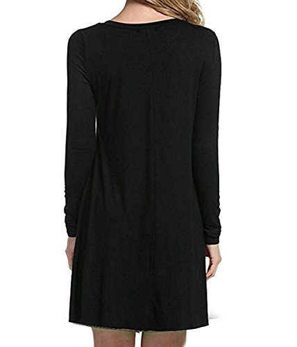 d8fa58b7f7 ... Tooklanet Women s Long Sleeve O-Neck Casual Loose T-Shirt Dress  DIMENSION INFOMATION Product Dimensions   16.51(Width) x 25.4(Length) x  2.54(Height) cm