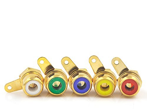 Eastone E1611 Female Amplifier RCA Jack Chassis Mount Gold 10pcs - Gold Rca Connector Female Chassis