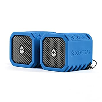 Review Portable Bluetooth Speaker, Blue