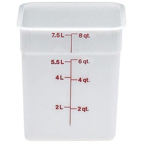 Cambro 8SFSP148 White Poly 8 Qt Cam-Square Container