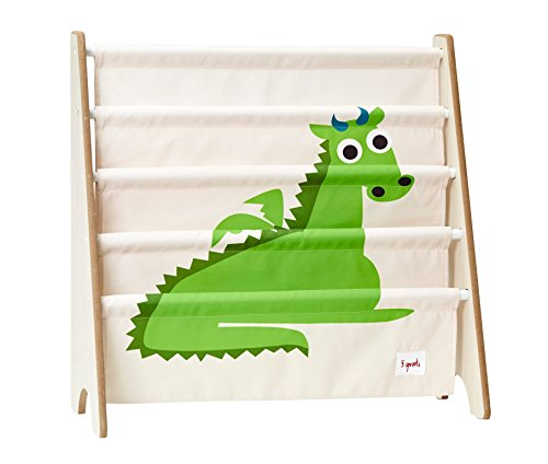 3 Sprouts Book Rack, Dragon/Green by 3 Sprouts
