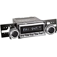 RetroSound M2C-127-53-73 Model Two Direct-Fit Radio for Classic Vehicles (Chrome Face/Buttons and Chrome Bezel)
