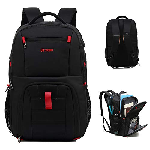 Travel Business Laptop Backpack, Extra Large Capacity Collegue School Backpack for Men and Women with USB Charging Port, TSA Friendly Water Resistant Big Business Computer Bag Fit 17.3 inch Laptops