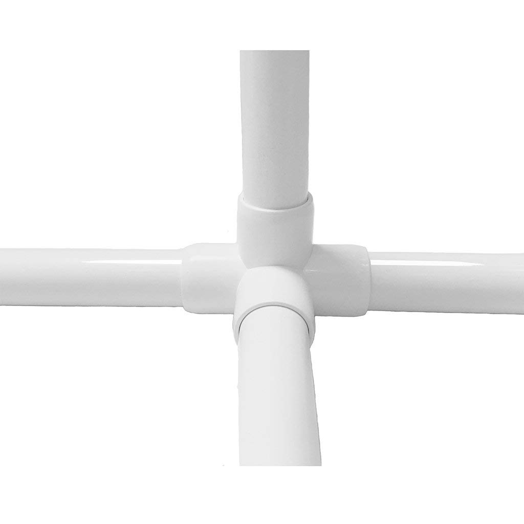 White 2Pack PVC Pipe 1 inch 5ft Schedule 40 PVC Pipe Furniture Grade,Size Pipe 5 long