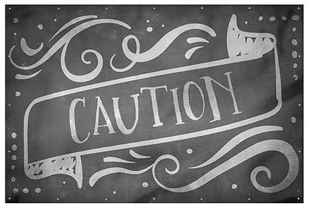 Caution 12x8 Chalk Banner Wind-Resistant Outdoor Mesh Vinyl Banner CGSignLab
