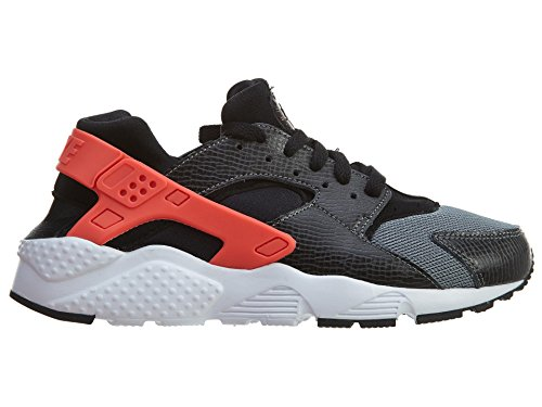 Nike Huarache Run (GS), Zapatillas de Running Para Niños Negro / Naranja / Gris / Blanco (Black / Brght Crimson-Cl Gry-Wht)