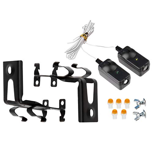 Safety Sensor Beam Eyes for 41A5034 Liftmaster Sears Chamberlain Craftsman Garage Door Opener w/ Brackets (1 kit) (Beam Photo Eye)