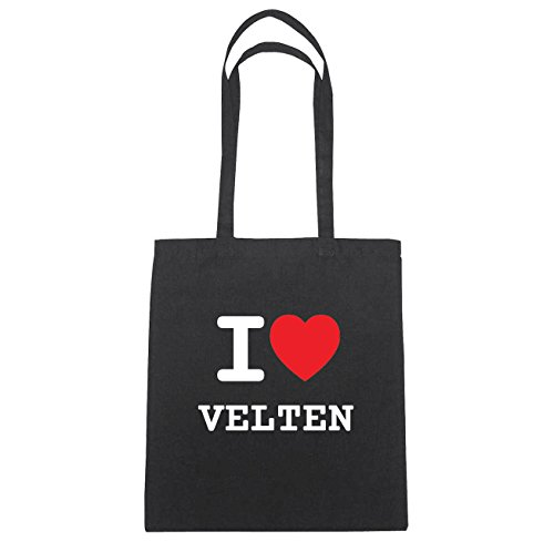 Sac Velten I En Schwarz Ich Liebe Coton Natur Herz Love Jollify B2207 Hände qwFC5xqdZ
