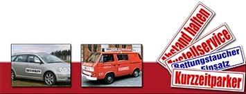 Magnetfolie f/ür Auto//LKW//Truck//Baustelle//Firma INDIGOS UG Magnetschild Rettungshundestaffel 30 x 8 cm
