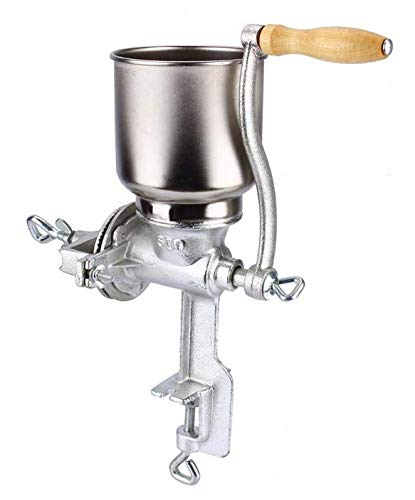 Corn Grinder – Hand-operated Corn Grinder For Wheat Grains Coffee Nut Mill Tall – Cast Iron Hand Crank Manual Corn Grinder