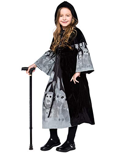 Halloween Witch Costumes Ghost Witch Hooded Dress Vampire Cosplay Outfit -