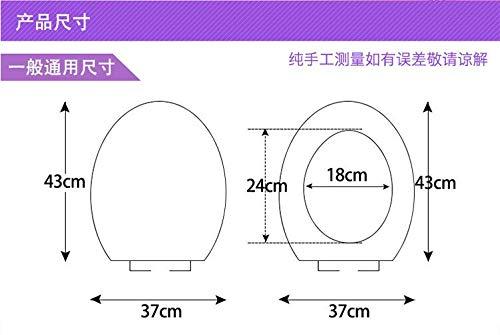 GYSDVHO 2Pcs/Set Warm Toilet O Type Toilet Seat Cover Toilet Seat Cushion Polka Dot Lace Short Plush Pad Diamond Velvet Cushion Toilets Purple by GYSDVHO (Image #2)