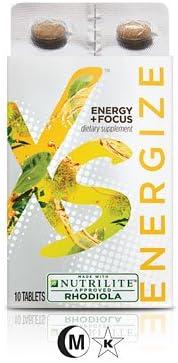 Nutrilite XS Energize Energy + Focus 30 Tabletas