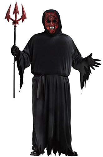 Fun World Men's Plus Size Smoldering Devil Plus Costume, Black Plus Size