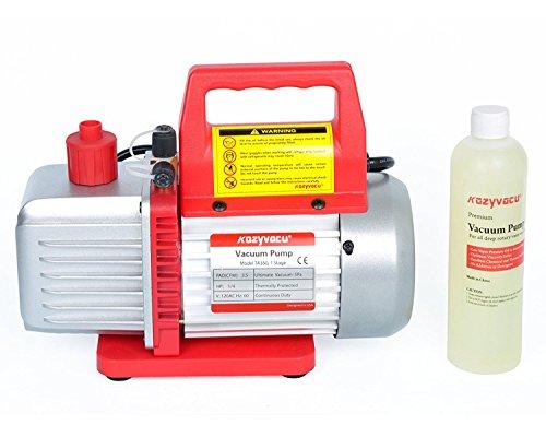 Kozyvacu 3.5CFM 1-Stage Rotary Vane Vacuum Pump (3.5CFM, 150Micron, 1/4HP) for HVAC/Auto AC Refrigerant Recharging, Degassing wine or epoxy, Milking cow or lamb, Medical, Food Processing etc. by Kozyvacu (Image #5)