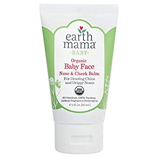 Organic Baby Face Nose & Cheek Balm for Dry Skin by Earth Mama   Natural Petroleum Jelly Alternative, 2-Fluid Ounce