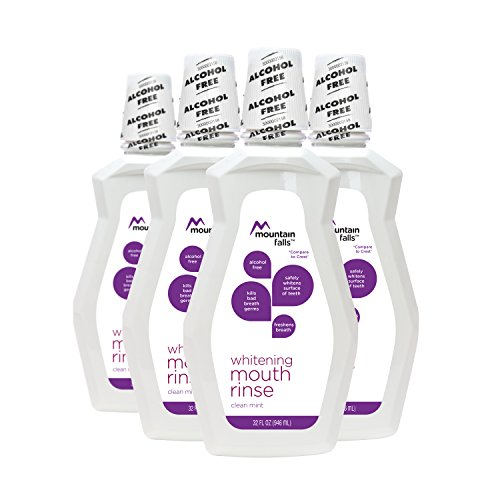 : Mountain Falls Whitening Mouthwash, Clean Mint, Compare to Crest, 32 Fluid Ounce (Pack of 4)