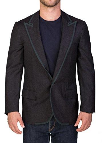 Lanvin Men's Wool One-Button Sportscoat Jacket Grey Green ()