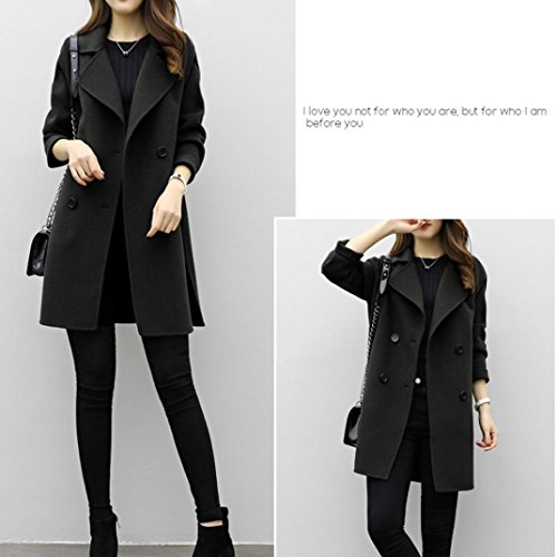 Capispalla Giacca Slim Parka Jacket Black Cardigan Autunno Cardigan inverno Somesun Donna Coat Overcoat Casual Cotton Outwear Women x7t8Z8