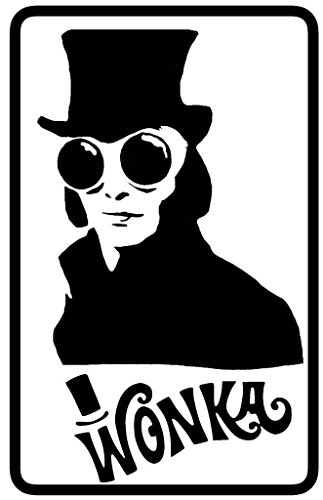 [Willy Wonka Decal Vinyl Sticker|Cars Trucks Walls Laptop|BLACK|5.5 In|KCD449] (Violet Wonka Costume)