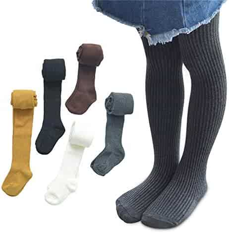 ee7e38d1d816e 5 Pack Baby Kids Girls Cable Knit Tights Cotton Solid Leggings Stocking  Pants Pantyhose